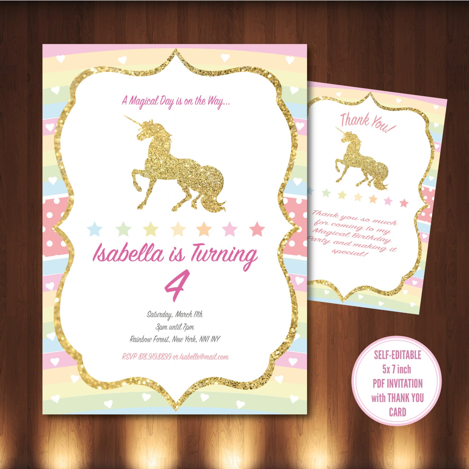 It's just an image of Slobbery Printable Unicorn Invitations