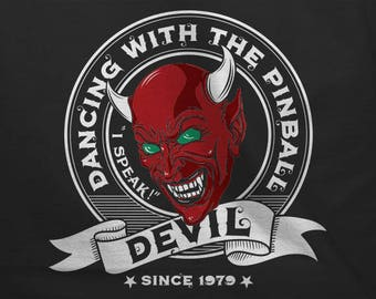 Dancing With The Pinball Devil Since 1979 - Vintage, Retro Looking T-Shirt