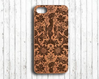 mermaid  Iphone 7 plus case iphone 6s case wood iphone 7  case iphone 6s case gift for her iphone se case iphone 5 case her gift