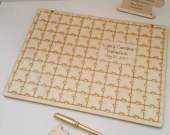 Jigsaw Puzzle Guest Book , Jigsaw Guestbook, Wedding Puzzle, Alternative Wedding Guestbook, Personalised Guestbook, Wedding Decor,