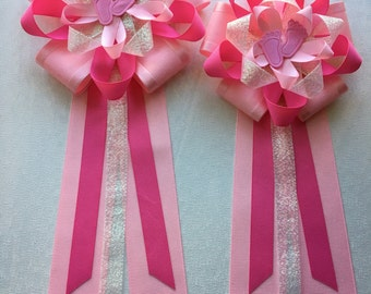 Mom and dad corsage set for babygirl shower