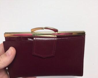 Vintage Burgundy Leather Wallet