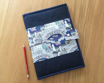 Notepad Cover, A4 Notepad Holder, Notebook Cover, Notepad Portfolio, Sketch Pad Cover, Holiday Organiser, Magazine Holder, Writing Pad Cover