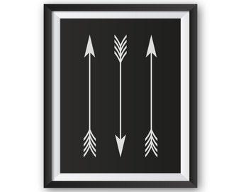 Living Room Art, Wall Decor Living Room, Wall Decor Arrow, Living Room Wall Decor, Living Room Prints, Vertical Arrows