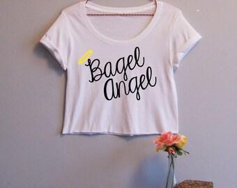 Bagel Angel Women's Crop Tee