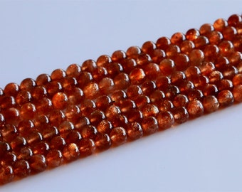 AAA High Quality Lepidochrosite Gold Strawberry Quartz Gold Sunstone Small Round Beads 5mm 02879