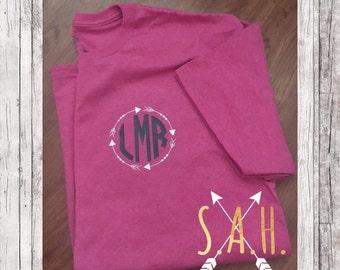 Monogram arrow t-shirt
