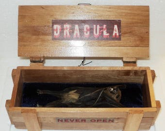 Dracula in a in the box....Wood noble breed....Personal work!