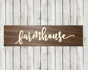 "Farmhouse Sign - Rustic wood sign - Wood Farmhouse sign - hand painted sign - wooden rustic farmhouse home decor - Christmas Gift -  9"" Long"