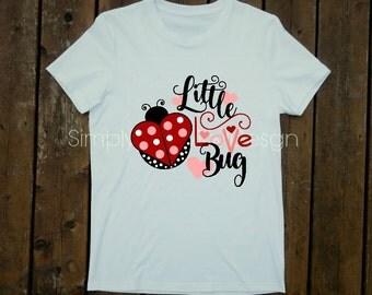 Little Love Bug, Valentine, Ladybug, Toddler