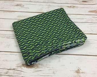 Newborn Baby Blanket - Personalized Blanket - Baby Boy Blanket - Baby Gift - Baby Shower Gifts - Blue and Green