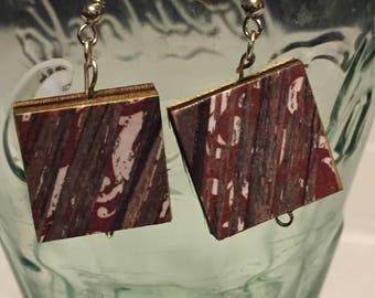 Barn Scrabble Tile Earrings