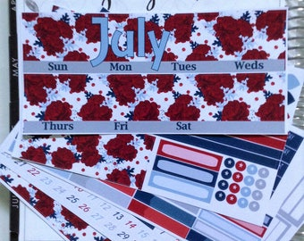 Independence Day July **Deluxe Monthly Planner Kit**