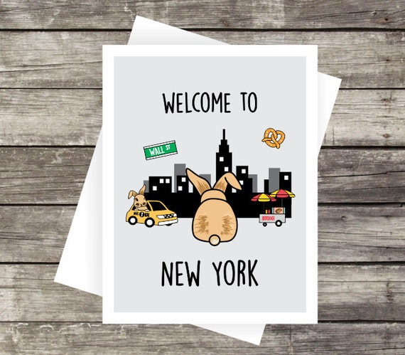 SALE Welcome To New York Greeting Card Blank Card Travel