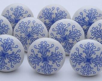 Blue & White Ceramic Knobs Ceramic Door Knobs Kitchen Cabinet Drawer Pulls