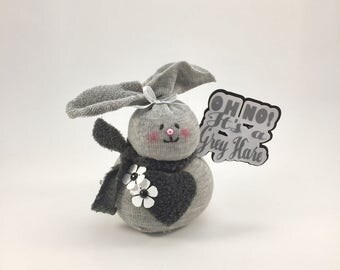 Funny gray hair gift,funny gray hare gift,funny sock rabbit, funny getting older gift,gift for getting older,