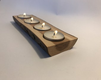 Yew tealight holders