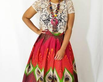 African skirt, African print maxi skirt, Ankara skirt, Ankara maxi skirt,  African long skirt, Wine maxi skirt, African clothing, African