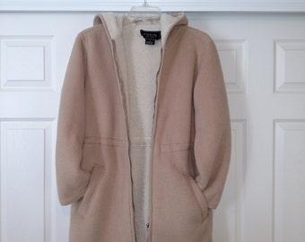 20% Off/Size L Winter Women Jacket/Ivory Faux Sheepskin Jacket/Faux Sheepskin Womens Coat/Size XL Women Jacket/Vintage Winter Jacket/ Nr.184