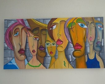 """Painting """"My friends, my love..."""" painting is oil on canvas"""