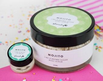 Mojito Body Scrub & Lip Balm Combo