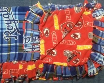 Kansas City Royals & Kansas City Chiefs Fleece Blanket