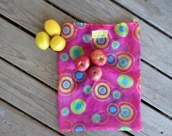 Upcycled Bulk Bag / Reusable Bulk Bag / Reusable Produce Bag / Reusable Bag / Produce Bag / Bulk Bag / Pink Sheer Bag
