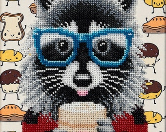 "Beads embroidery kit ""Racoon"""