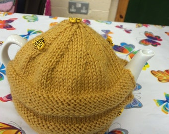 Hand Knitted Bee Hive Tea Cosy