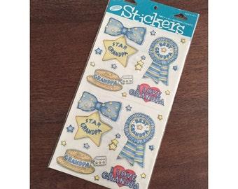 I Love Grandpa Stickers, Vintage Grandpa Stickers, Vintage Lucy Rigg Stickers