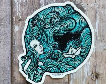 Sea Storm 3 Inch Vinyl Sticker