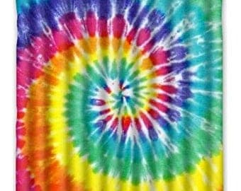 Tie-Dye Shower Curtain