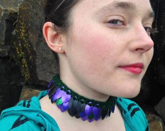 Knitted Scale Mail Choker