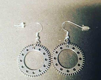 Steampunk Gearrings