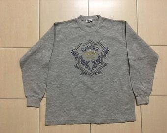 Vintage 90's Paris Feminim Sport Classic Design Skate Sweat Shirt Sweater Varsity Jacket Size M #A534