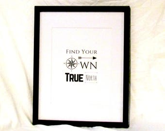 Find Your True North Printable Digital Wall Art Compass Graphic Home Decor Dorm Decor Instant Download