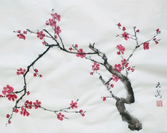 Pretty plum flowers