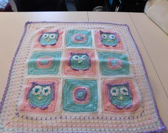 Owl Baby Girl Afghan Blanket