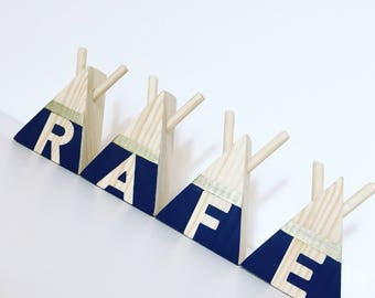 Mini wooden teepee letters any colour