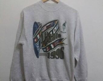 Vintage Atlanta sweatshirt spellout printed 96s/sportwear/streetwear