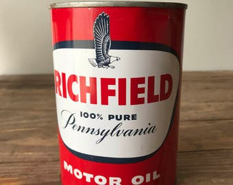 Richfield 100% Pure Pennsylvania 1 Quart Oil Can