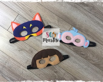 Dora Inspired Masks, Kids Masks, Kids Costumes, Dora Mask, Halloween mask, Dress up mask, Dora Birthday Party, Boots mask, Swiper Mask