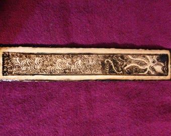 Octopus Wood-burned Bookmark