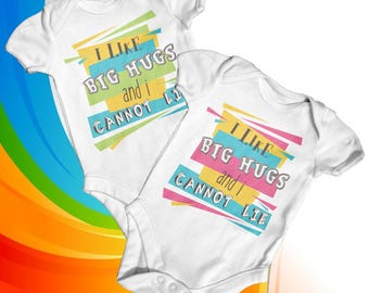 I Like Big Hugs Baby Bodysuit | Cute Baby Clothes | Funny Baby Bodysuit | Slogan Baby Bodysuit | Baby Shower Gift | Newborn Baby Clothes