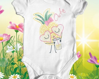 Cute Pineapple Baby Bodysuit | Cute Baby Clothes | Baby Shower Gift | Funny Baby Bodysuit | Newborn Baby Clothes | Summer Baby
