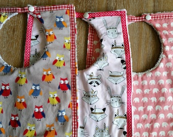 Toddler Bib. Generous size, highly absorbent. buy set of 3 or on own.