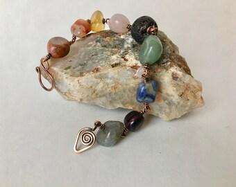 Chakra Bracelet, Chakra Stones, Chakra Jewelry; Essential Oil Bracelet, Essential Oil Gift; Chakra Gift; Diffuser Bracelet; Diffuser Jewelry