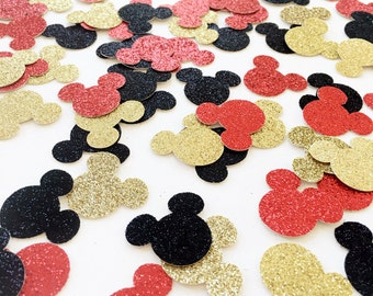 Mickey Mouse Confetti / Mickey Mouse First Birthday Party / Mickey Mouse Party Decor / Glitter Confetti / Table Scatter / Dessert Table