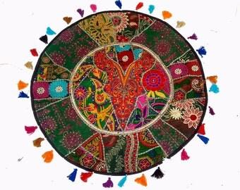 Gypsy Roundies,pouf ottoman,Floor Cushion Cover,decorative Patchwork,Poufs,pouf,pouffe,Moroccan pouf,floor pouf,floor cushion,patchwork pouf