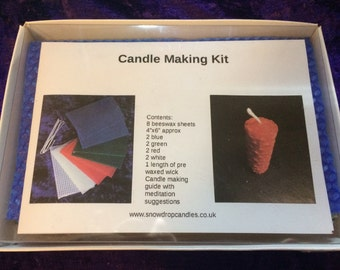 Candle Making Kit, Beeswax candle making kit.  Meditation candle kit.  Beeswax sheets.